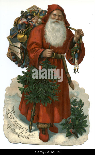 Victorian Father Christmas Scrap Stock Photos & Victorian Father ...