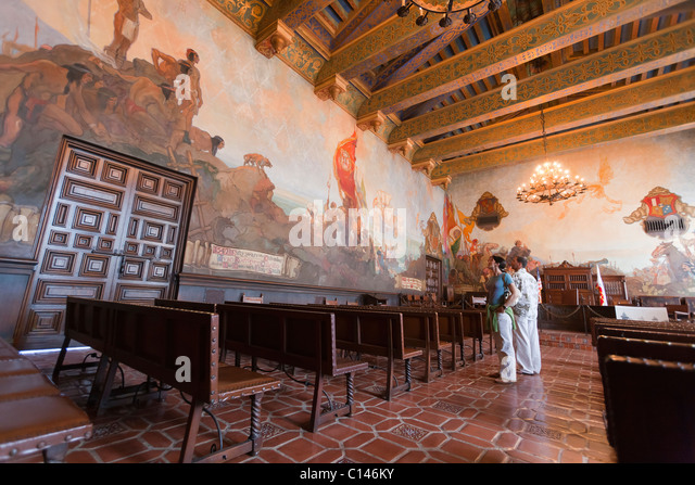 Man court room stock photos man court room stock images for Mural room santa barbara