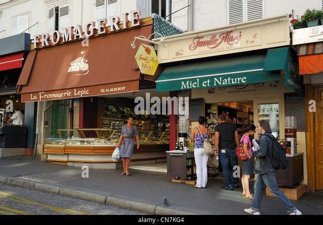 Food Shop In Montmartre Stock Photos & Food Shop In Montmartre ...