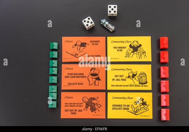 Chance Cards Monopoly Stock Photos & Chance Cards Monopoly Stock ...