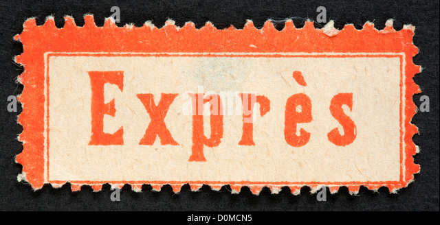 exprs stamp for letter stock image