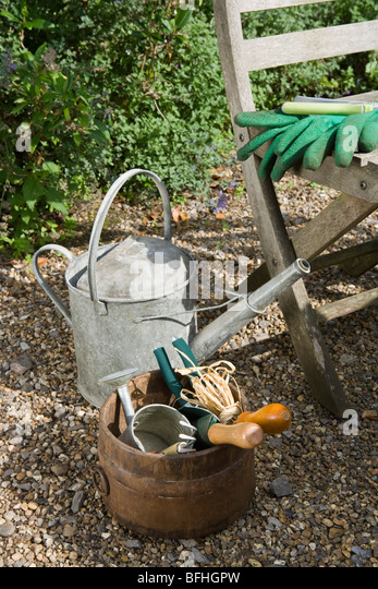 Garden tools stock photos garden tools stock images alamy for Gardening tools watering