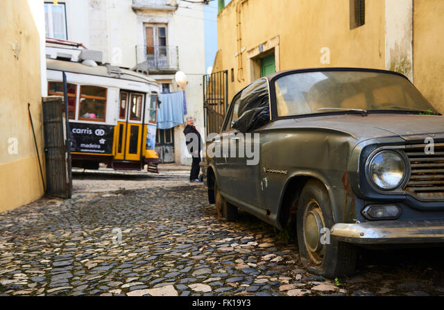 tram and old car stock photos tram and old car stock images alamy. Black Bedroom Furniture Sets. Home Design Ideas