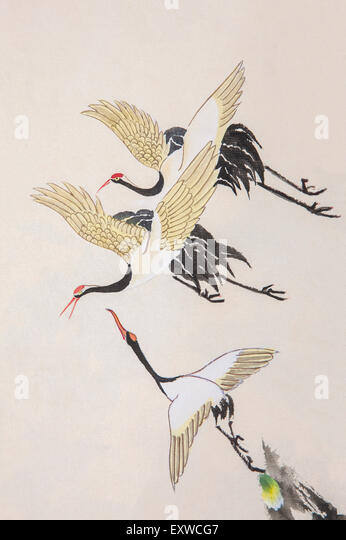 Chinese crane bird