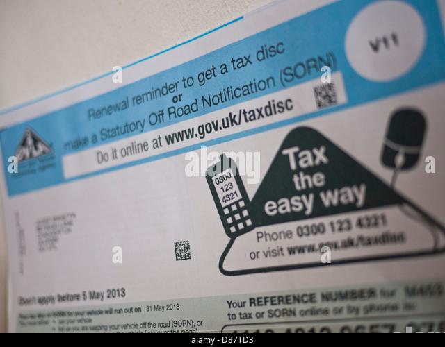 Vehicle Road Tax Reminder V11 Form UK