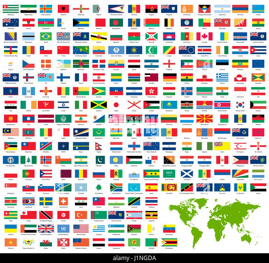 Official country flags world map stock photos official country complete set of official world flags sorted by name stock image gumiabroncs Choice Image