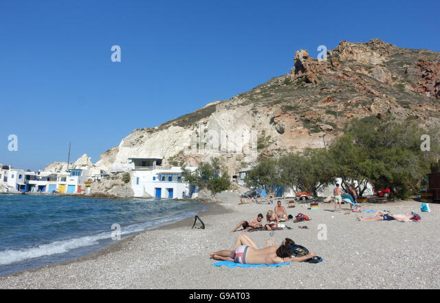 Greece Beach Sunbathing Stock Photos & Greece Beach ...