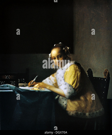 the love letter vermeer letter stock photos amp vermeer letter stock images 1665