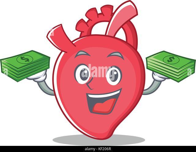 Cartoon character heart anatomy stock photos