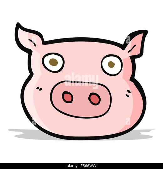Pig cartoon face cut out stock images pictures alamy