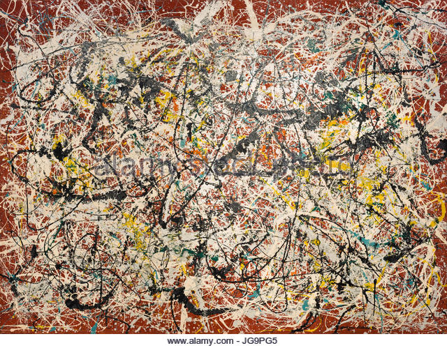 jackson pollock painting stock photos jackson pollock