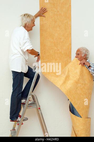 Do it yourself senior couple renovation wallpaper stock photos apartment renovation performances senior pair papers 60 70 years couples solutioingenieria Gallery