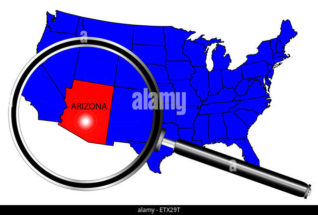 Arizona State Map Cut Out Stock Images Pictures Alamy - Us Map With Arizona Highlighted