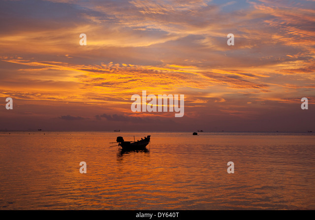 In koh phangan thailand stock photos in koh phangan for Long beach fishing boat