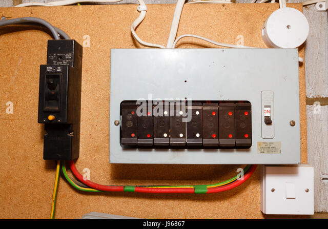 old style electrical fuse boxuk j96867 fusebox house stock photos & fusebox house stock images alamy house electrical fuse box at soozxer.org