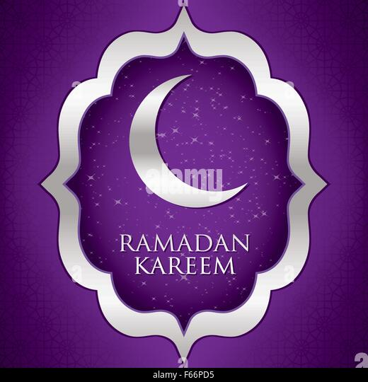 Ramadan Kareem Generous Moon Card In Vector Format
