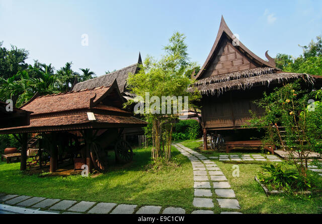 Traditional thai houses stock photos traditional thai for Thailand houses pictures