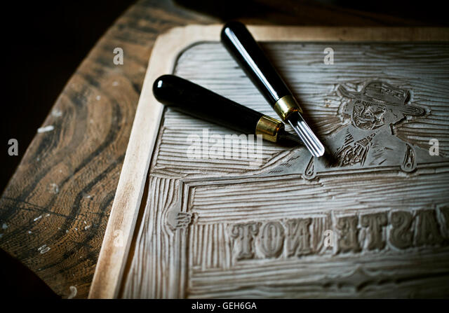 Linocut stock photos images alamy