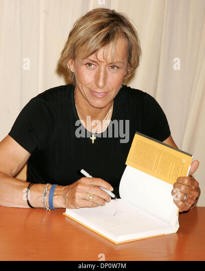 apr 04 2006 new york ny usa tennis player martina navratilova