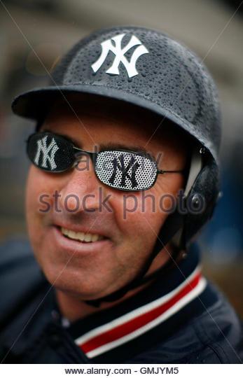 <b>Peter Anderson</b> wears New York Yankees glasses outside Yankee Stadium before ... - peter-anderson-wears-new-york-yankees-glasses-outside-yankee-stadium-gmjym5