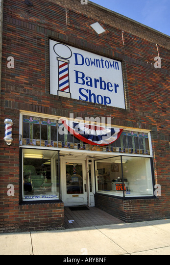 Barber downtown stock photos barber downtown stock for Abstract salon tucson