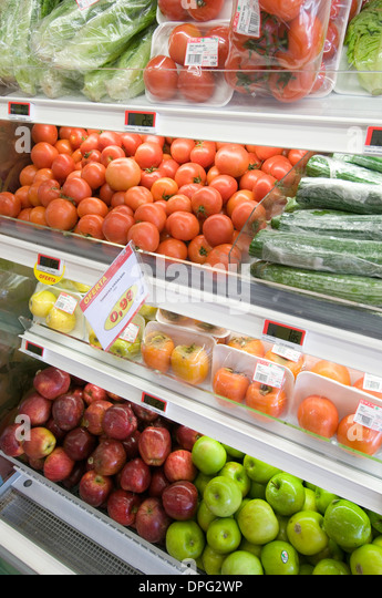 how to display fresh produce