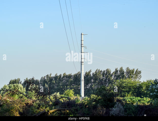 electricity pylon design stock photos electricity pylon design power line support insulators and wires appearance of a design stock image