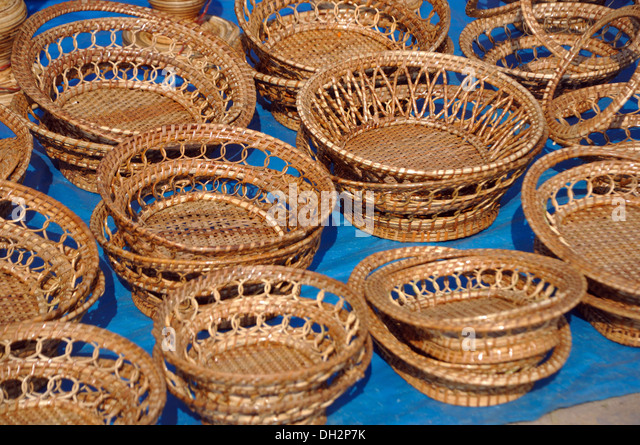 Handicraft Basketry : Baskets and handicrafts stock photos