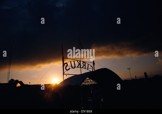 A circus tent by night Sweden. - Stock Image : circus tent at night - memphite.com