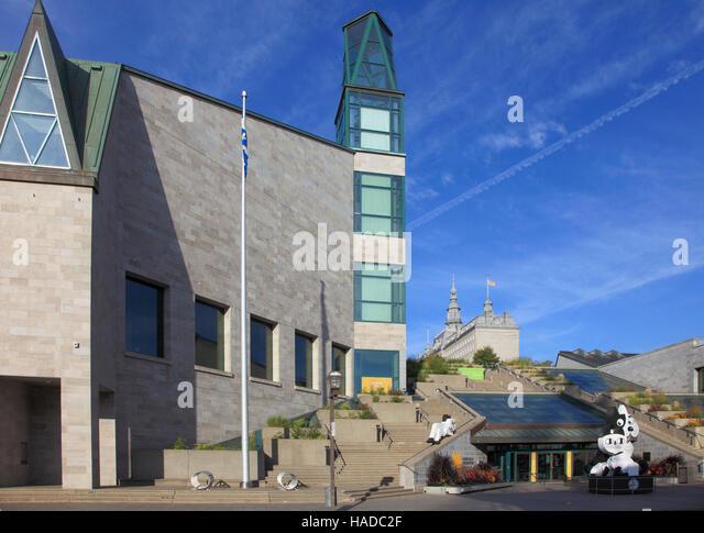 Museum of civilization stock photos museum of for Quebec city museum of civilization