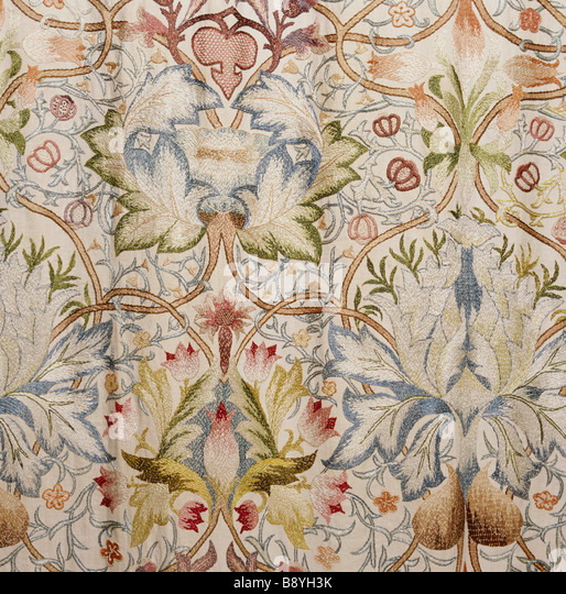 Standen House Interior Stock Photos amp Standen House  : detail of the silk tapestry in the north bedroom worked by mrs beale b8yh3k from www.alamy.com size 514 x 540 jpeg 151kB