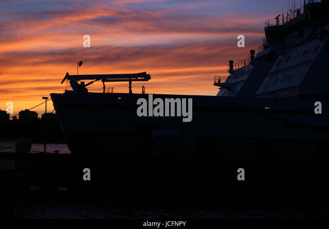 Icebreaker in the harbour of Helsinki - Stock Image