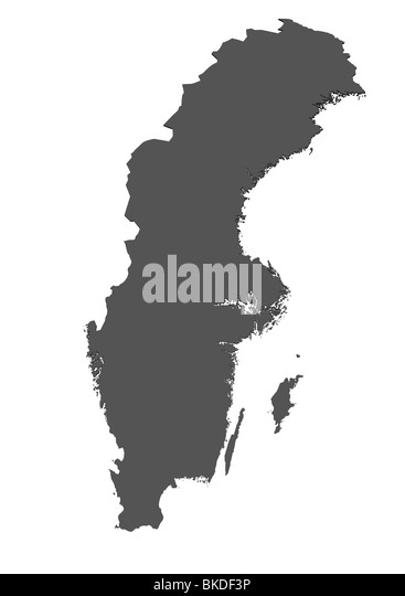 Swedish Map Stock Photos Swedish Map Stock Images Alamy - Sweden map blank