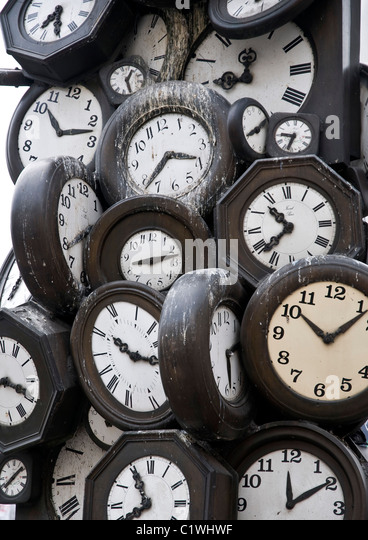 Different Time Clocks Stock Photos Different Time Clocks