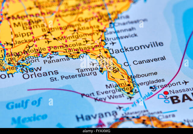 State Of Florida Map Stock Photos State Of Florida Map Stock - Florida map state