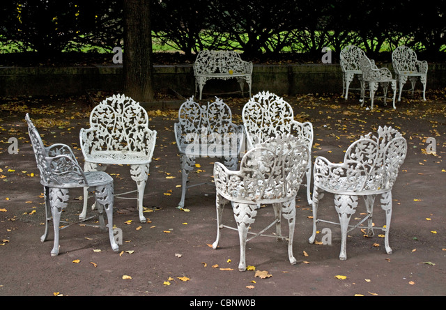 Casual Cluster Of Victorian Garden Furniture On The Grounds Of National  Park Island Of The Statue