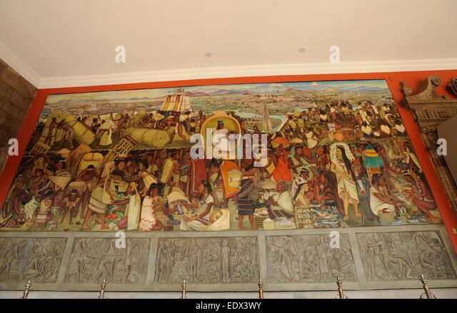 Palacio nacional mexico city stock photos palacio for Diego rivera mural paintings