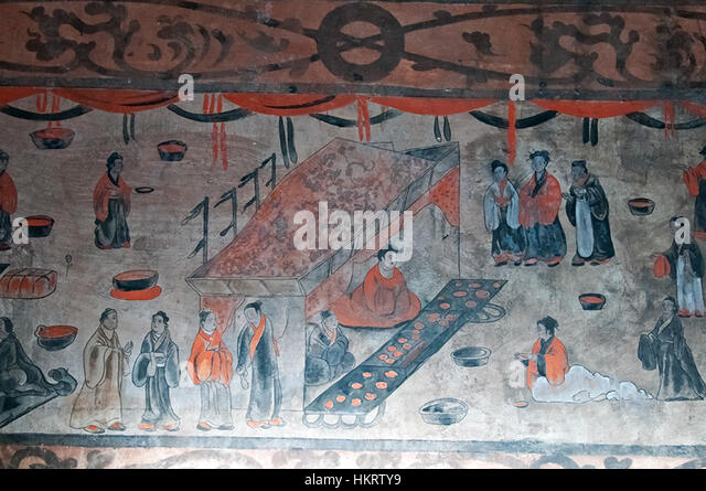 Han dynasty stock photos han dynasty stock images alamy for Dynasty mural works