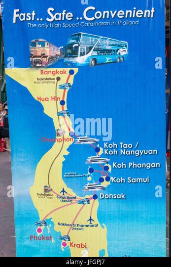 Bangkok Tourist Map Stock Photos Bangkok Tourist Map Stock Images