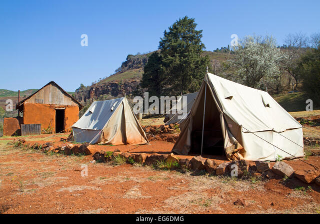 Former gold mining c& at Pilgrimu0027s Rest - Stock Image & Mining Tent Tents Stock Photos u0026 Mining Tent Tents Stock Images ...