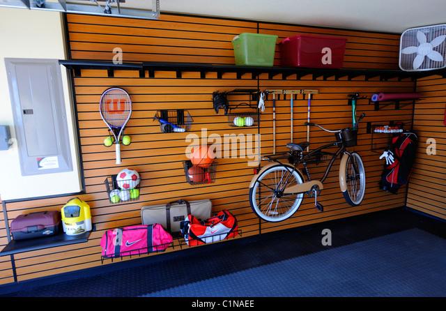Organized garage stock photos organized garage stock for Home construction organizer