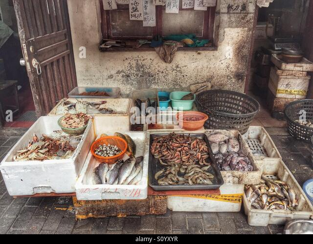 Fish market stall stock photos fish market stall stock for Oriental fish market