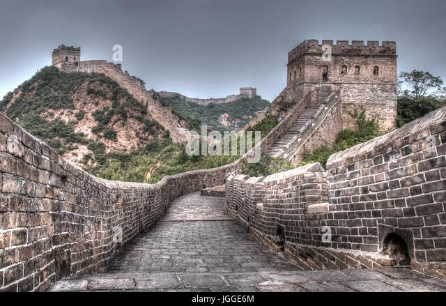 Great wall of china Jinshanling - Stock Image