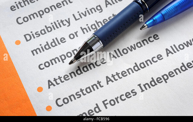 Benefit Dla Claim Photos Benefit Dla Claim Images – Attendance Allowance Form