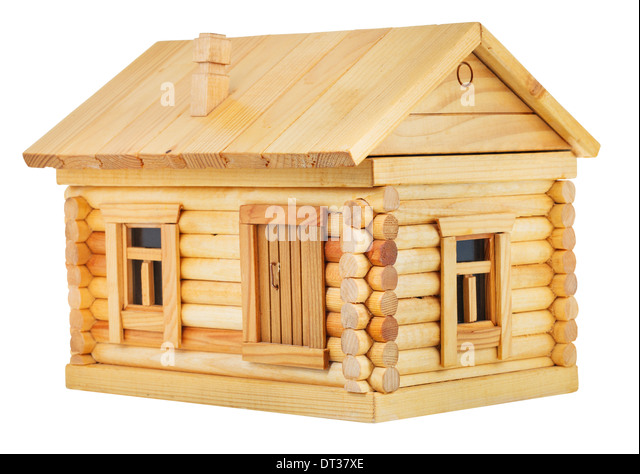 Wooden log cut out stock images pictures alamy for Simple village home designs