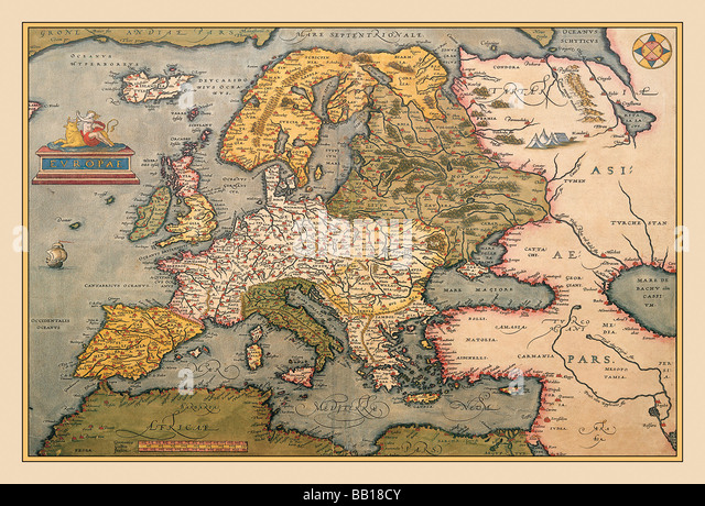 Image Gallery old medieval europe map