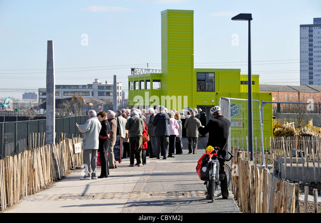 Visitors Viewing 2012 Olympic Park With View Tube Social Enterprise Community Venue Cafe And Education