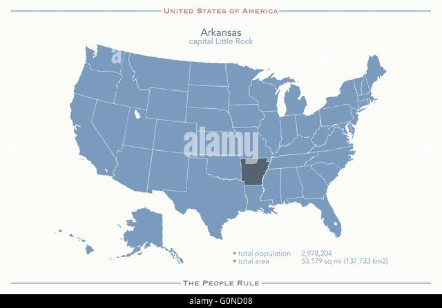 United America Map Arkansas Territory Stock Photos United