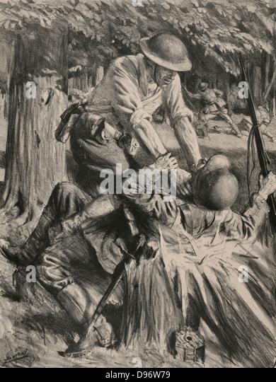 Au bois belleau  In Belleau Wood American soldier strangling a  ~ Bois De Belleau