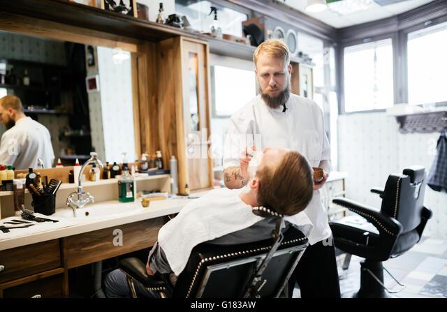 hair salon barber shop stock photos hair salon barber shop stock images alamy. Black Bedroom Furniture Sets. Home Design Ideas